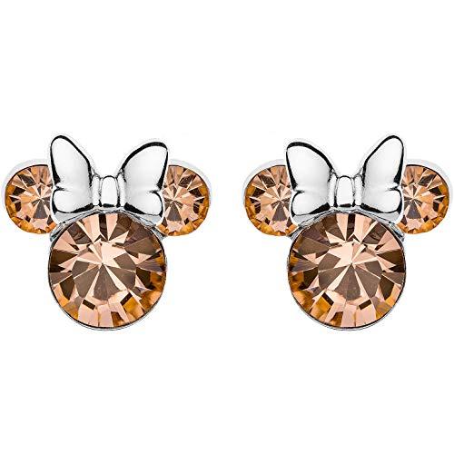 Disney E905162RJUNL - Pendientes de plata para niña de Mickey Mouse de junio