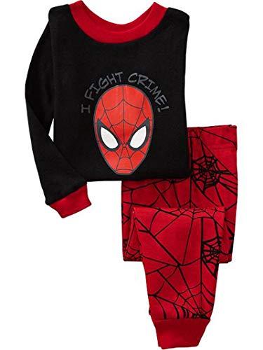 Greneric Pijama infantil casual. Ropa de casa de manga larga. Conjunto de algodón Kimi el mismo Superman. Paquete especial de correo. Color verde fluorescente
