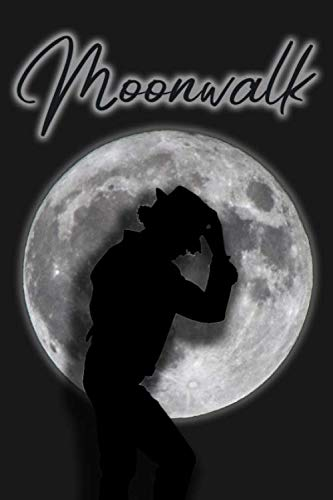 Moonwalk: Unique Personalized Notebook, Simple Black and White Notebook, Personalized Gift, Cool Present, Writing Notebook, Best Birthday Gift for Women and Men, 100 Lined Pages, 6x9'', Matte Finish