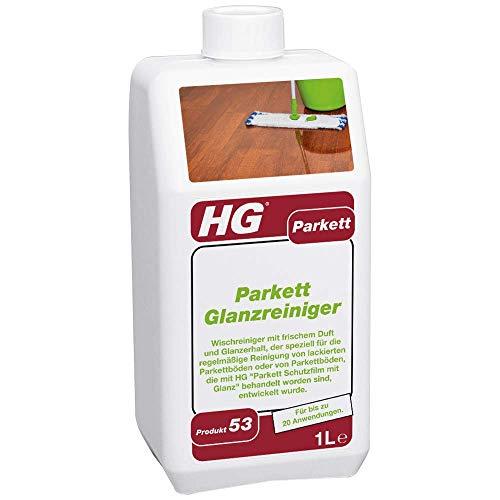 HG Parkett Glanz Reiniger 1L – ein frisch duftender Parkett Glanz, der speziell zur regelmäßigen Reinigung von Parkettböden aller Art entwickelt worden ist.