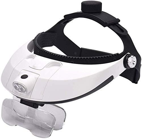 TYZXR Professionelle Stirnbandlupe mit LED-Licht und 5 Linsen, verstellbar, elastisch für professionelle Wartungstests