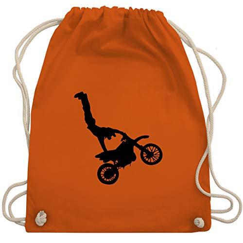 Shirtracer Motorsport - Motorrad Stunts - Unisize - Orange - WM110 - Turnbeutel und Stoffbeutel aus Bio-Baumwolle