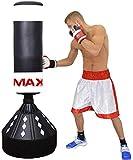Saco de boxeo de pie, resistente, 175 cm, para boxeo, artes marciales mixtas, kickboxing,...