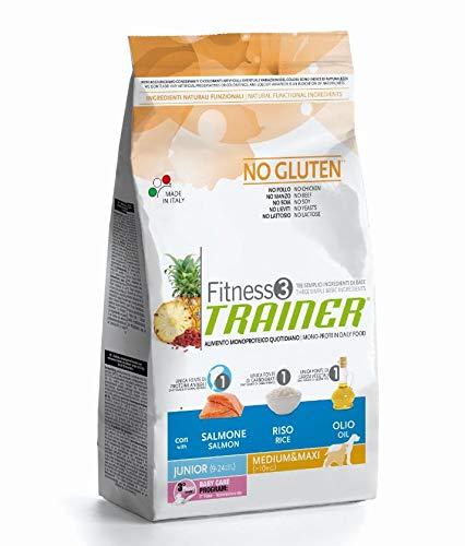 Trainer FITNESS3 Junior (9-24 Mesi) Medium&Maxi Salmone E Riso kg. 3