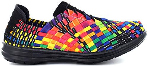 B M BERNIE MEV NEW YORK Victoria Casual Zapatillas Deportivos para Mujer, Multicolore (Black Multi), 38 EU