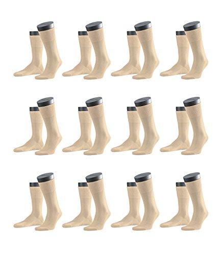 FALKE Herren Business-Socken Tiago 14662 12 Paar, Farbe:Beige;Sockengröße:43-44;Artikel:-4320 sand