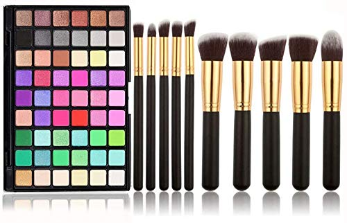 Holzsammlung Pro 54 Color Selection Powder Eyeshadow Makeup Palette 54 Shades with Brush
