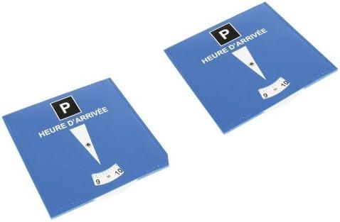 Lot de 2 disques de stationnement pour zone bleue