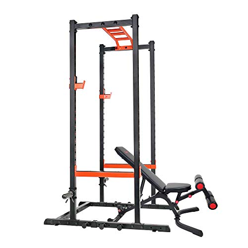 Sunny Health & Fitness Power Zone Strength Rack Power Cage...