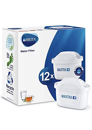BRITA MAXTRA+ – Pack12filtros para el agua,Cartuchos filtrantes compatibles con jarras BRITA...