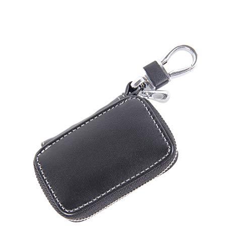 ZHANGYOUDEEU Universal Leder Flash Pulver Textur Taille hängende Reißverschluss Geldbörsen Schlüsselhalter Tasche (kein Include Schlüssel) (schwarz) (Farbe : Black)