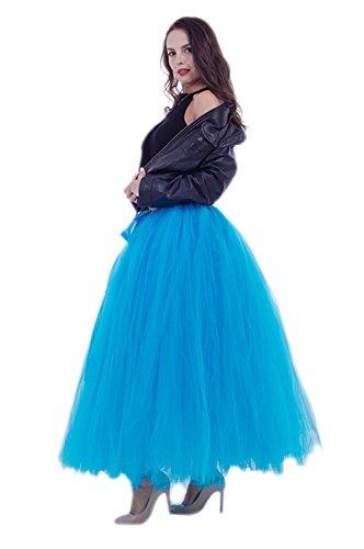 Preisvergleich Produktbild URVIP Damen's Rock Tutu Tuturock Tütü Petticoat Tüllrock mit Gummizug für Karneval,  Party und Hochzeit Blau One Size