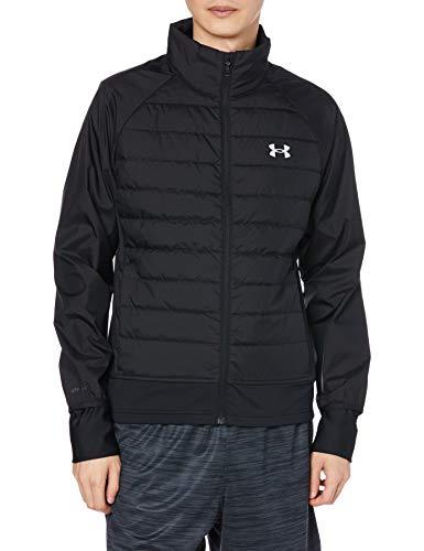 Under Armour Herren Jacke Run Insulate Hybrid Jacket, Black / Black / Reflective (001), LG, 1355807-001