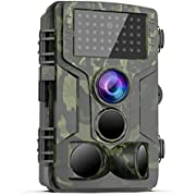 [Latest 2019] Trail Game Camera - 1080P FHD Waterproof Scouting Camera, 120°Wide Angle PIR Sensor Motion Activated Night Vision, Hunting Cam for Wildlife and Home Surveillance