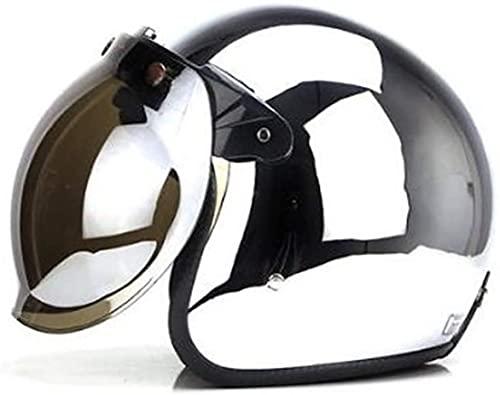 QAZXS Casco de Motocicleta Retro de Media Cara/ece Casco de Motocicleta Retro con Gafas Vintage Motocicleta Medio Cara Bicicleta eléctrica Helmetxue XL (Color : 4, Size : 55-56CM)
