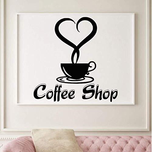 Makeyong Koffie Shop Logo Muursticker Goede Koffie Muursticker Vinyl Café Winkel Muurposter Cup Thee Keuken Decor Raam Stickers42X42Cm