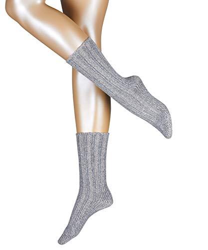 ESPRIT Damen Socken Rough Boot - Wolle-/Kaschmirmischung, 1 Paar, Grau (Light Grey 3400), Größe: 39-42