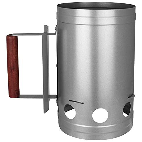 TW24 Anzündkamin für Grillkohle Grillstarter Kohlestarter Holzkohle Grillanzünder Schnellanzünder Feuerkohleanzünder Feuerkohleanzünder