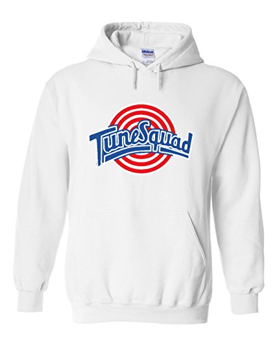 The Silo White Spacejam Tunesquad Jordan Front & Back Hooded Sweatshirt Adult