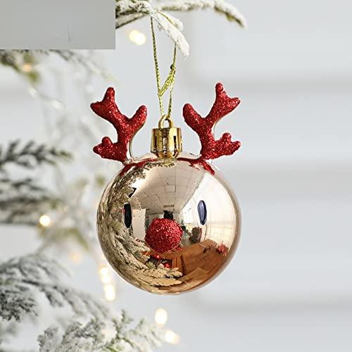 MLOPPTE Navidad,Adornos para árboles de Navidad Decoraciones Colgantes Diseño de Escena Disparo de Gota Bolas de diámetro Rojo Festival Colgante de plástico 2pcsB