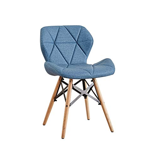 TXXM Silla de escritorio para estudiantes y silla de maquillaje para computadora de la parte trasera de la casa de comedor (color: azul claro)