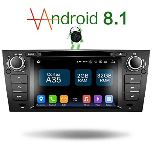 Amaseaudio Upgrade Android 8.1 32GB ROM 7 Inch TFT LCD 1-Din Online Navigating Car Stereo Auto Radio Mirrorlink WiFi GPS for BMW E90