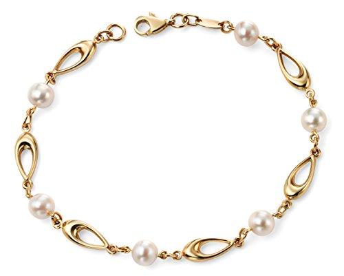 Elements Donna 9cts (375) Oro bianco Ronde bianco Perla FINENECKLACEBRACELETANKLET