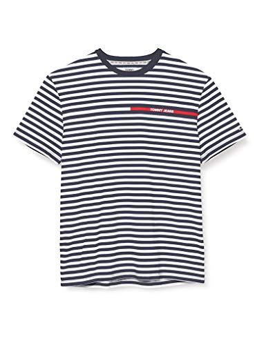 Tommy Jeans Herren TJM Branded Stripe Tee Hemd, Blau, X-Large