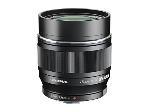 Olympus M.Zuiko Digital ED 75mm F1.8 Objektiv, lichtstarke Festbrennweite, geeignet für alle MFT-Kameras (Olympus OM-D & PEN Modelle, Panasonic G-Serie), schwarz
