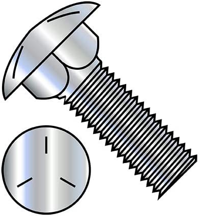 5 Manufacturer direct delivery 8-11X2 1 4 Carriage Portland Mall Bolt Grade Zinc Qty Pack Threaded Fully