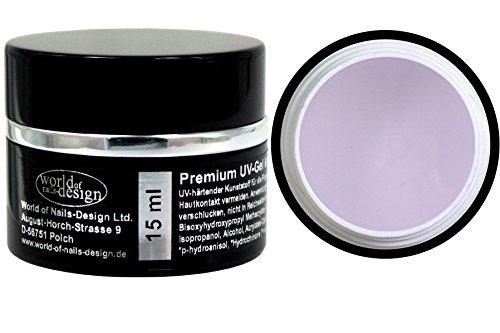World of Nails-Design, Gel UV per unghie, con fibra di vetro, trasparente, ad alta viscosità, tenuta extra forte, 15 ml