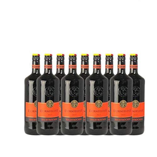 Rotwein Pfalz Dornfelder Qualitätswein halbtrocken (9 x 1,0 l)
