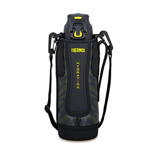 Thermos vacuum insulation sports bottle [one-touch open type] 1.0L black yellow FFZ-1001F BKY
