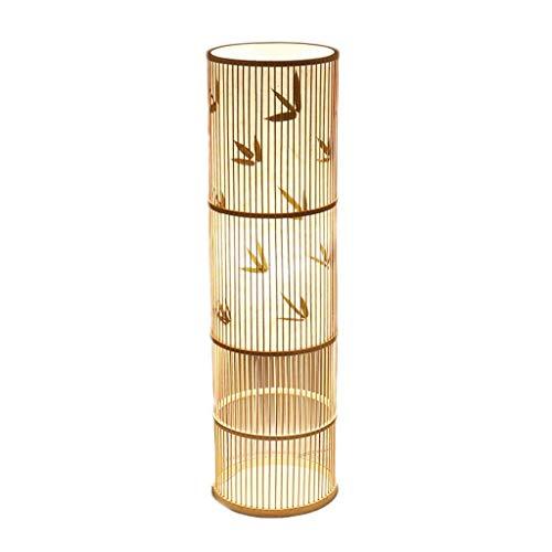 Praktische und Einfache Stehlampen Vertikale Lampen Leichte Bambus-Stehlampe im Japanischen Stil Warme und Elegante Teestube Praktische und Einfache Tischlampe Dimmbares Wohnzimmer Schlafzimmer Nacht