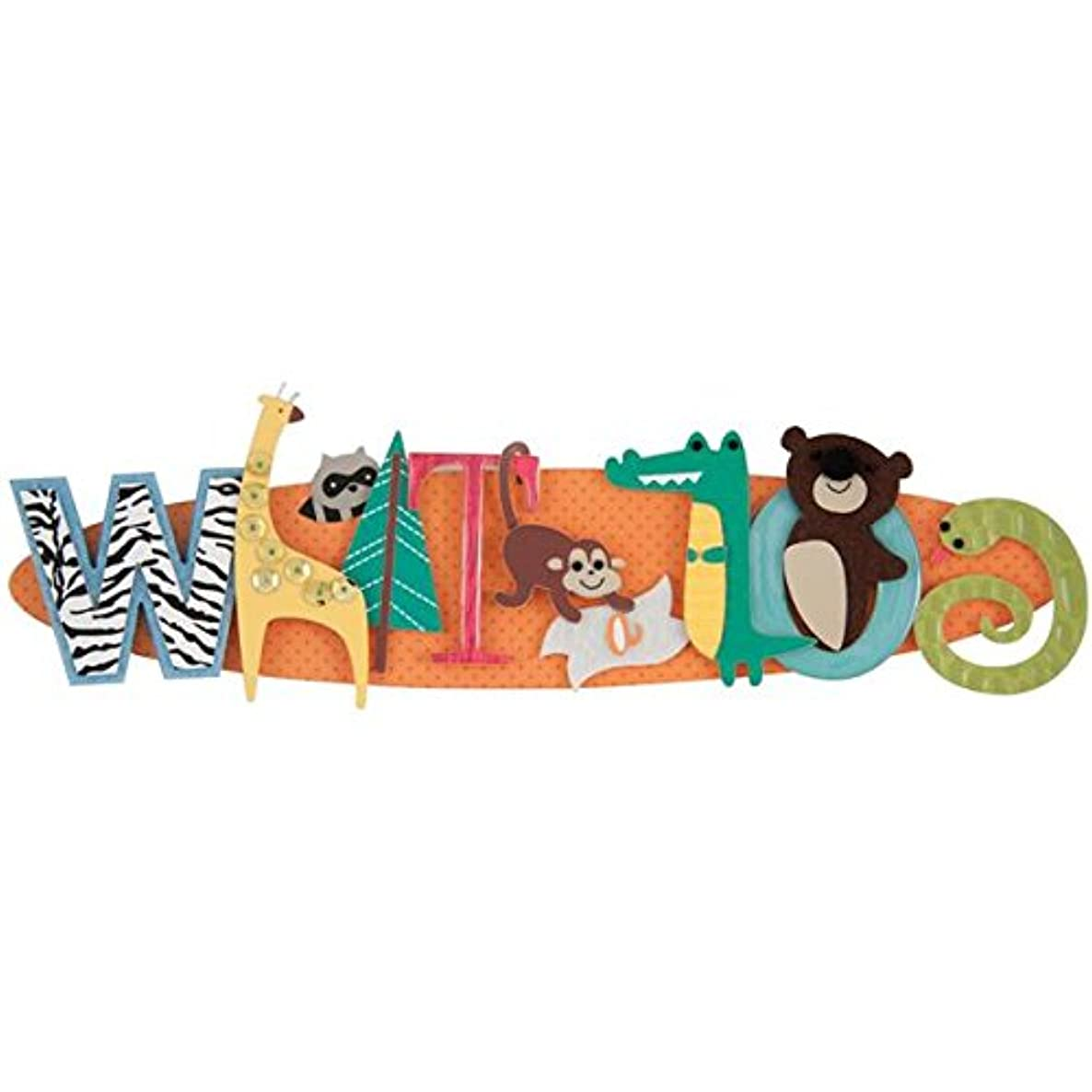 Karen Foster Design Scrapbooking and Craft Embellishment Stacked Statement, What a Zoo