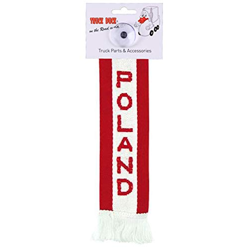 TRUCK DUCK® LKW Auto Minischal Polen Poland Mini Schal Wimpel Flagge Fahne Saugnapf Spiegel Deko