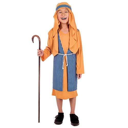 Fun Shack Disfraz de pastorcillo para nios. Un Adorable Traje navideo para el beln o para una Obra de Teatro, Talla L