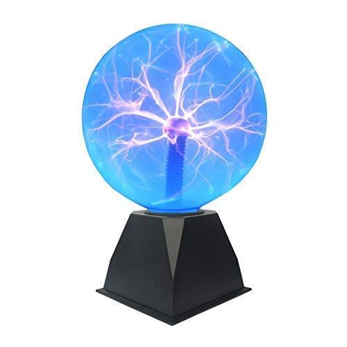 "Tradeopia Corp. Glass Plasma Ball Touch Sensitive Decoration Lightning - 8"" Blue"