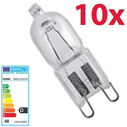 Osram Halopin - 10 lampadine alogene con attacco bispina 230 V G9 (48 Watt)