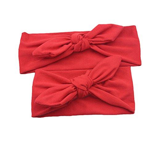 Frcolor - Cerchietto per capelli per neonato e mamma per bambina, colore: Rosso
