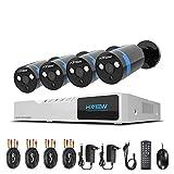 1080P Sistema de seguridad Kit 4ch HD H.264 DVR 4 camaras de seguridad H.View 2.0MP IP66 camara exterior P2P IR Vision nocturna sistema de vigilancia-No Disco duro