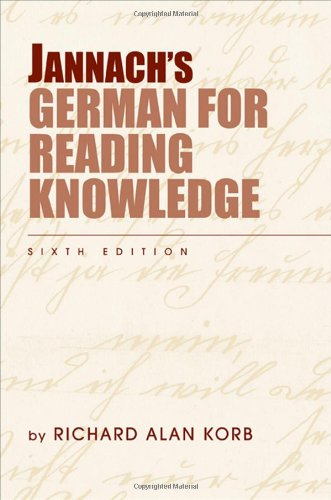 Jannach's German for Reading Knowledge (World Languages)
