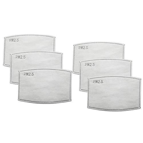Aktivkohlefilter Effiziente Filtration PM2.5 Anti-Dunst-Filter, Dichtung,Filter,austauschbare Filter, baumwolle, Für Erwachsene 5 Schichten dick(silber, 40 Stück)