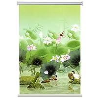すだれ ロールスクリーン 花柄 ウィンドウシェード、 100%ブラックアウト防水生地ローラーブラインド 家庭用およびオフィス用、 高さ200cm (Size : 70×200cm/27.5×78.7in)