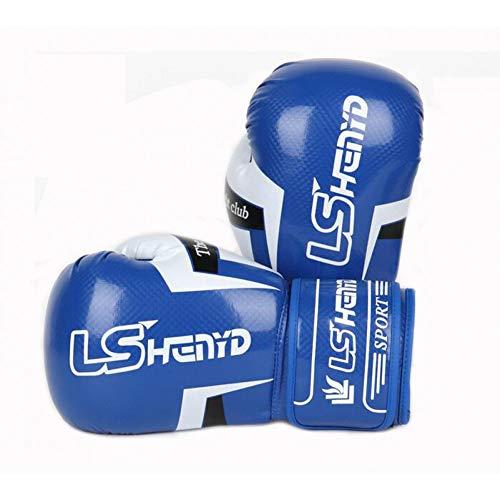 WOLIGEQ Boxhandschuhe Handschuhe Kick Boxing Gear Fighting ToolKarate Ausrüstung Sparring Outfit Sanda Stanzhandschuhe, Blau