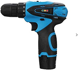 cordless drill screw driver 12v multi speed 10mm chuck with reverse with box