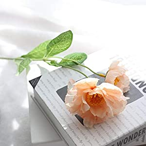 Artificial and Dried Flower 6PCS 2 Heads Poppy Artificial Flower for Wedding Party Decoration Fake Flower Silk Flowers for Home Decoration