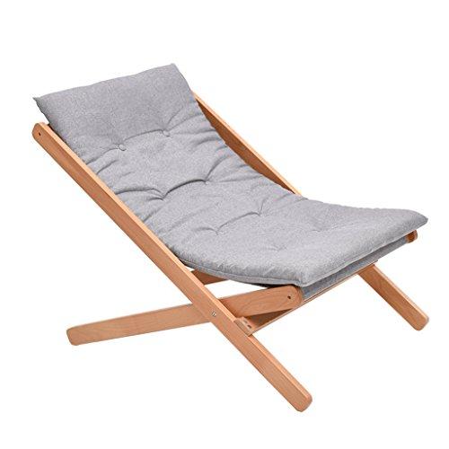 GHM Chaise de Camping Chaise de Salon Pliante en Bois Massif Bureau Déjeuner Pause Chaise Retour Chaise de Loisirs Balcon