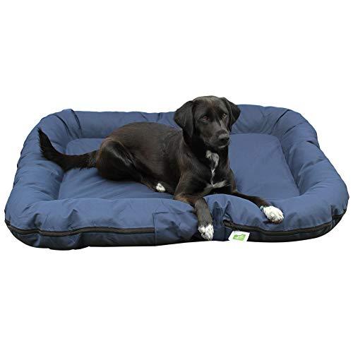 Top-Multi Hundebett - Hundematratze für große Hunde Farbe Dunkelblau 80cm x 105cm