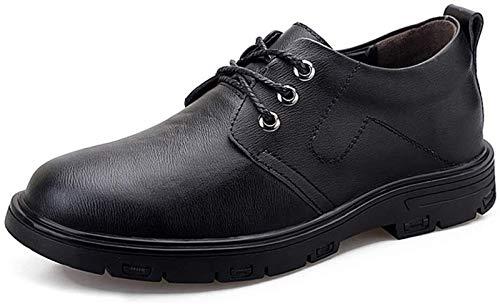 LXF JIAJU Zapatos de Hombre Zapatos Clásicos De Vestimenta for Los Hombres Zapatos Formales Atan for Arriba Estilo OX Piel Suela Aumento De La Altura De La Plantilla (Color : Black, Size : 43EU)